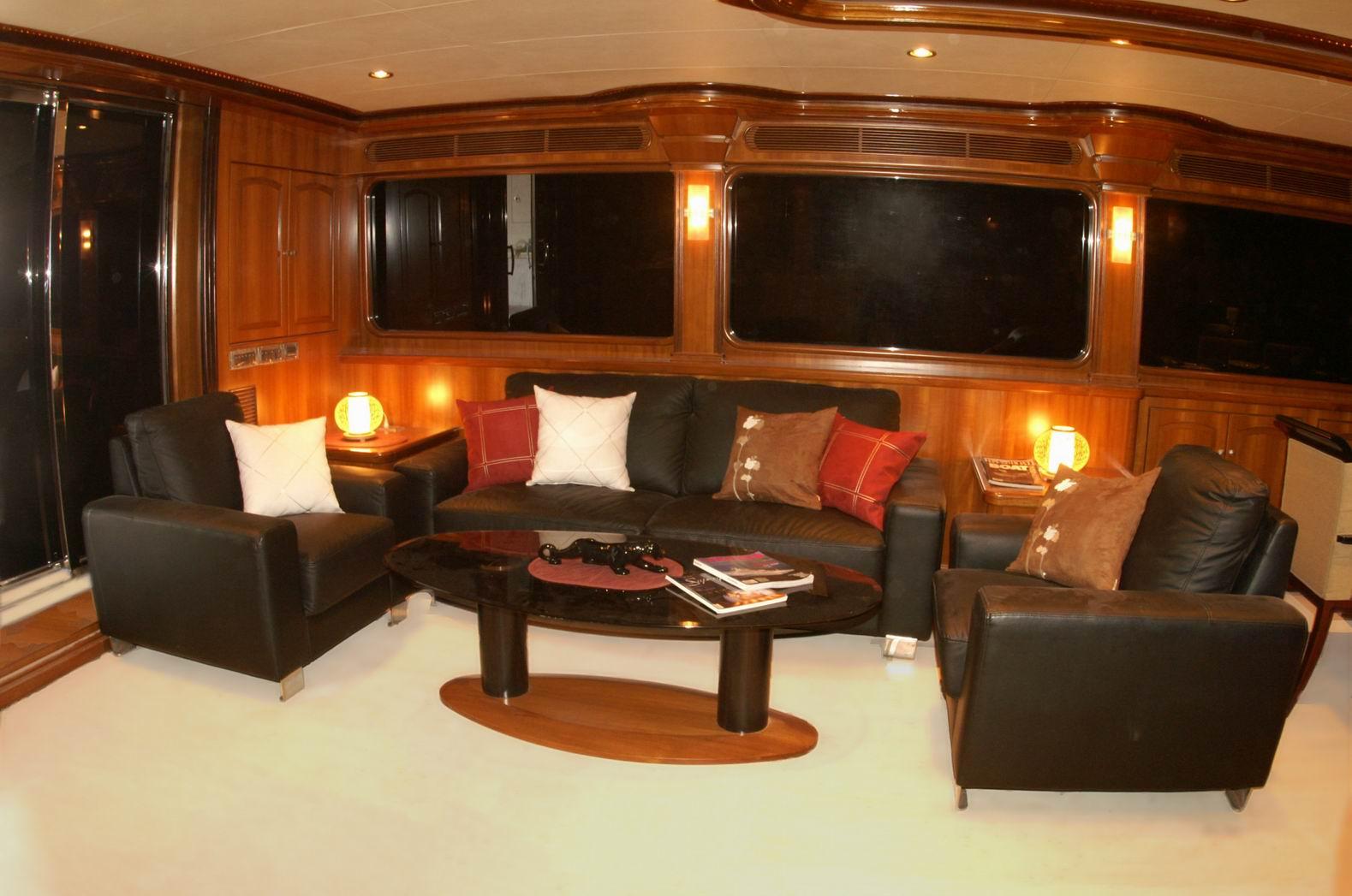 President 107 Triple Deck Motor Yacht Interior